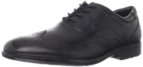 Rockport Business Lite Wingtip K62742, Scarpe stringate basse eleganti uomo, Nero (Schwarz (Black)), 42.5