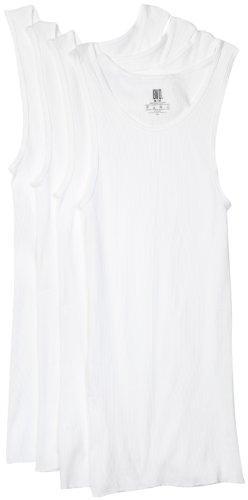 BVD Men's A-Shirt, White, Medium, 4-Pack