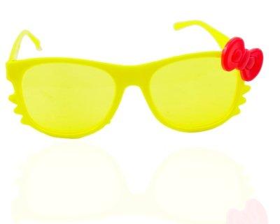 """ANGEL GLITTER """"Cute Yellow , Red Bow"""" Kid's Aviator Sunglasses"""