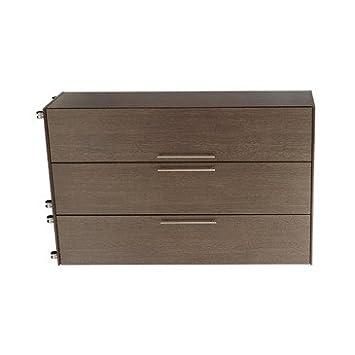 Ideal Furniture 3 Door Wardrobe, Wood, American Walnut
