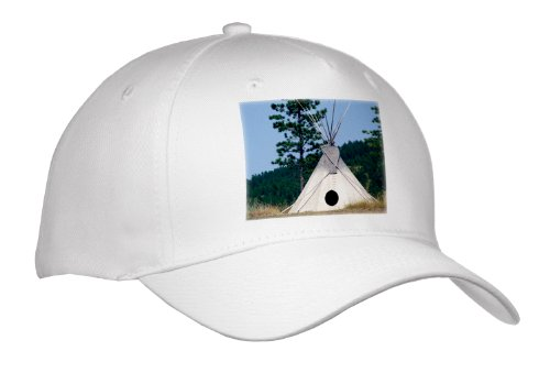 Danita Delimont - Native American - Sd, Lakota Indian Teepee, Native American - Us42 Cmi0278 - Cindy Miller Hopkins - Caps - Adult Baseball Cap front-1015081