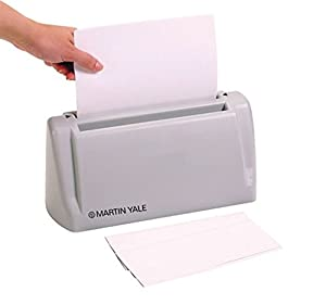 Martin Yale Desktop Letter Folder, Hand-fed Machine, Folds 1 to 3 Sheets in Seconds, Gray (PREP6200)