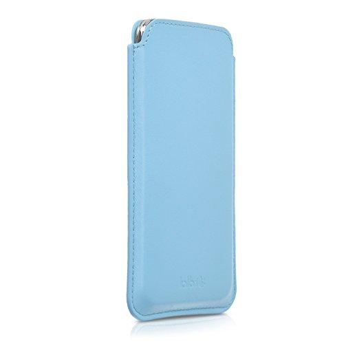kalibri-Leder-Tasche-Hlle-fr-Samsung-Galaxy-S5-S5-Neo-S5-Duos-Handy-Case-Cover-Echtleder-Schutzhlle-in-Hellblau