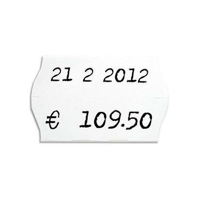 AGIPA Pack 6 rouleaux 1000 étiquettes blanches sinusoïdales 26X16mm