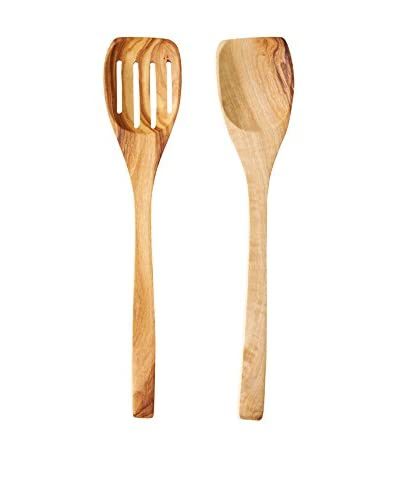French Home 2-Piece Olive Wood Spatula Set