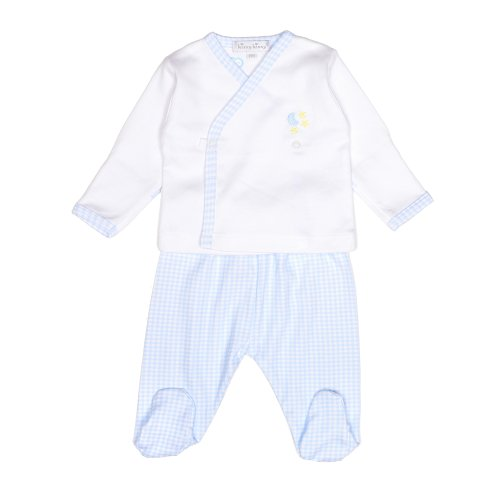 Kissy Kissy Blue Gingham Pima Cotton Two Piece Outfit - Premature