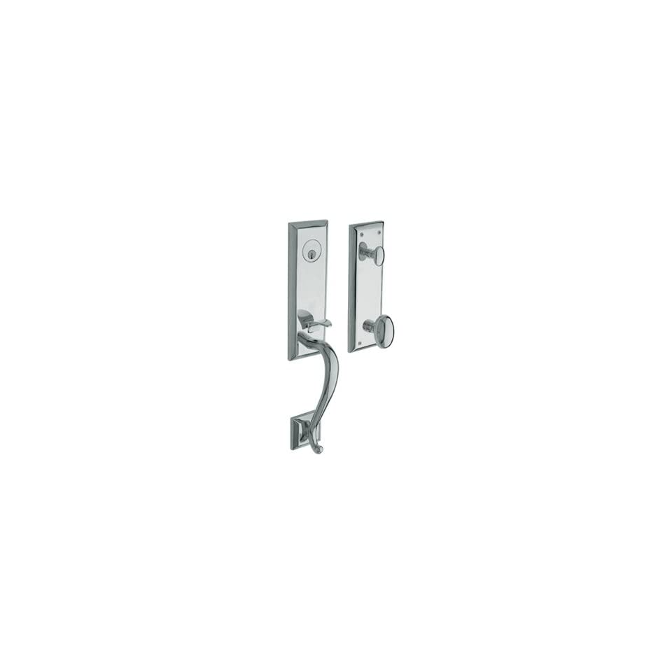 Baldwin 85355.260.RENT/LENT Polished Chrome Single Cylinder Stonegate Handleset with Classic Lever