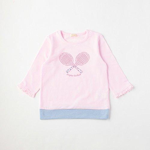 (ハッシュアッシュ)HusHusH ミニ裏毛テニスラケットTシャツ ベビーピンク(071) 90(90cm)