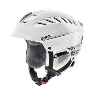 UVEX Damen Skihelm X-Ride Motion Graphic, white/green/blue mat, 58-60 cm, S56.6.117.1005