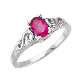 Precious Gift July Youth Birthstone Ring for
