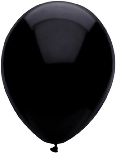 Pitch Black 12in Balloons 15ct