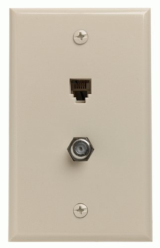 Leviton Combination Phone/Cat 5 Wall plate