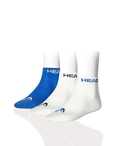 Head Pack x 9 Calcetines Azul / Blanco
