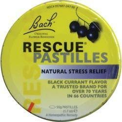 Bach Flower Essences Black Currant Rescue Remedy Pastilles 1.7 oz tin