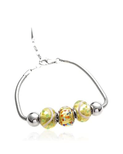 Valentina Beads by Gli Ori di Venezia Pulsera Valentina Amarillo / Plata