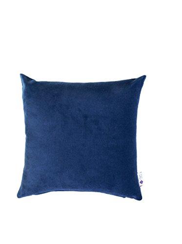 Purple Threads Marcella Cotton Velvet Cushion Cover 16'x16', Blue