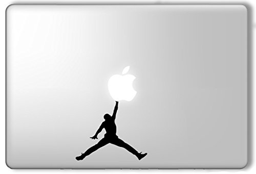 Michael Jordan Dunking Apple - Apple Macbook Laptop Vinyl Sticker Decal