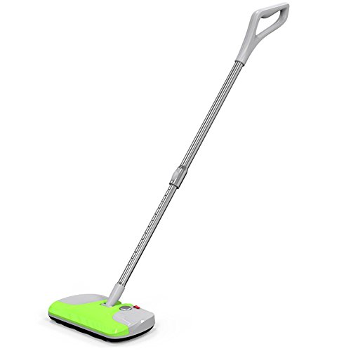 Cordless Electric Carpet Sweeper Vac Floor Vacuum Cleaner with Extendable Pole - Apple Green (Cordless Flexible Vac compare prices)