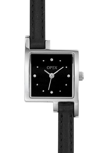 Opex Women's Analog Quartz Fashion Watch with Date Indicator and Black Leather Strap - X3231LA3