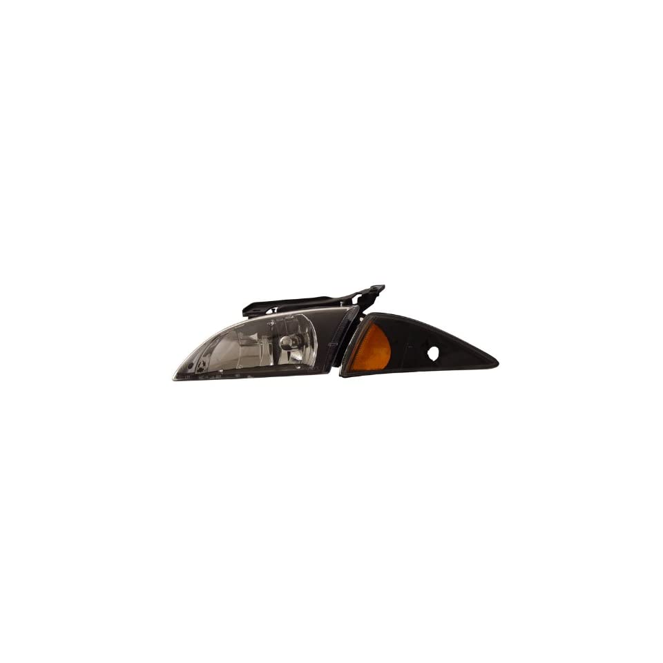 Chevrolet/Chevy Cavalier 00 02 Crystal Head Lamps / Lights Black Amber Euro Performance
