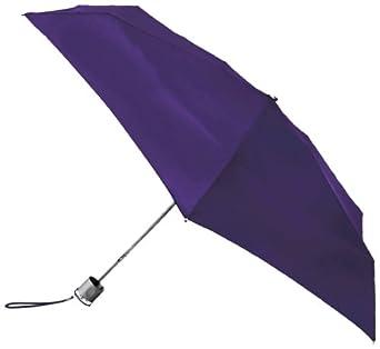Totes Ladies Signature Micro Manual Compact Umbrella, Purple, One Size