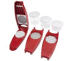 Genius Nicer Dicer 7-Piece Fruit, Vegetable & Cheese Cutter