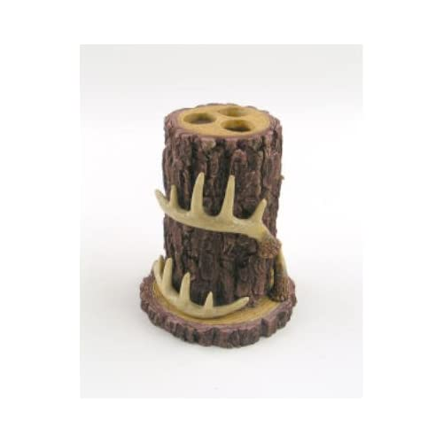 Amazon.com: Deer Antler tree bark Lodge themed Toothbrush Holder