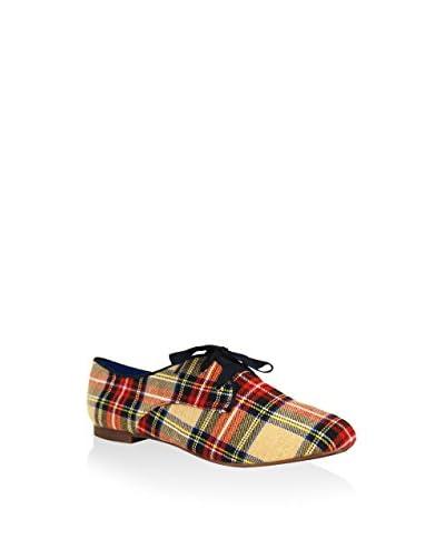 GAL·LATEA IN RED Zapatos de cordones Crema / Rojo