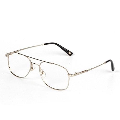 Liansan Brand Designer High Quality Retro Vintage Bifocal Reading Glasses Mens Eyeglasses L3695T(silver,+2.50) 1