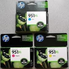 Original cadeau HP 951X L Cartouche d'encre cyan magenta jaune CN046A CN047A CN048A