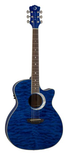 Luna Fau Ecl Tbl Fauna Eclipse Acoustic-Electric Guitar - Trans Blue (Ga)