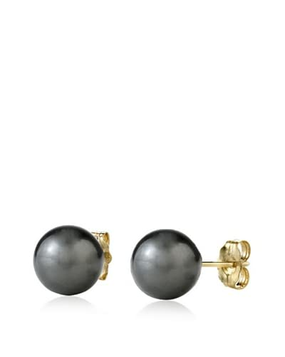 Radiance Pearl 14K 9mm Tahitian South Sea Pearl Stud Earrings