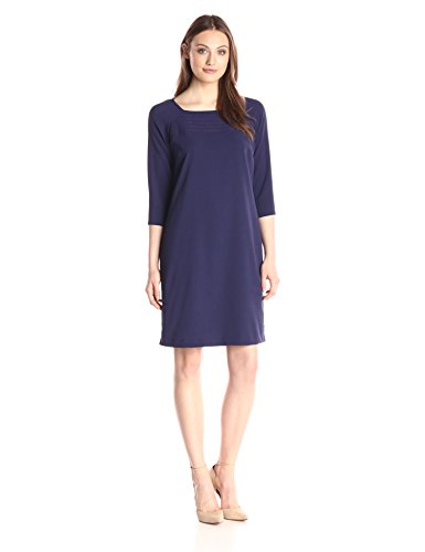 Lark-Ro-Womens-34-Sleeve-Smocked-Dress