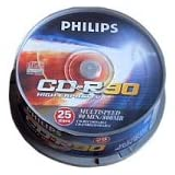 CR8D8NB25 - 25 x CD-R - 800 MB ( 90min )par Philips