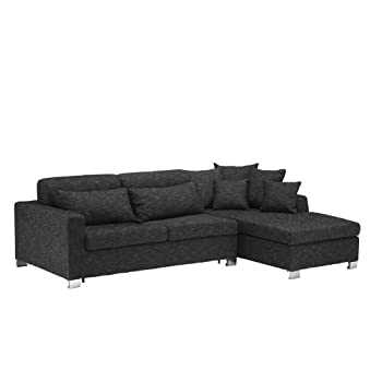 pas cher canap d 39 angle convertible miami rapido avec coffre pour un couchage quotidien gris. Black Bedroom Furniture Sets. Home Design Ideas