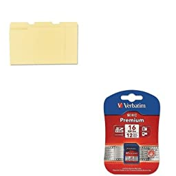 KITUNV12113VER96808 - Value Kit - Verbatim Premium SDHC Memory Card (VER96808) and Universal File Folders (UNV12113)