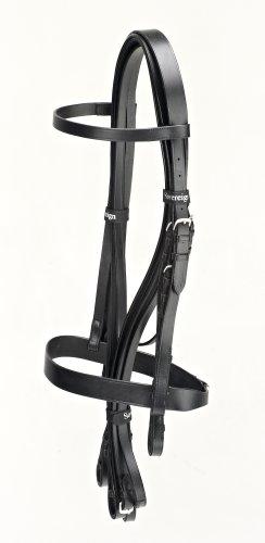 Windsor Doppel-Trense für Pferde mit schlichten