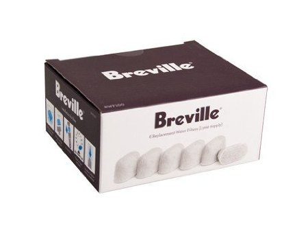 Breville BWF100 Single Cup Brewer Replacement Charcoal Filters White