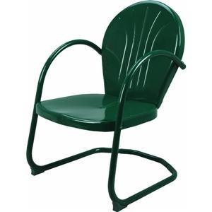 ASIN:B0016G3ODW:Retro Metal Tulip Lawn Chair, Hunter Green