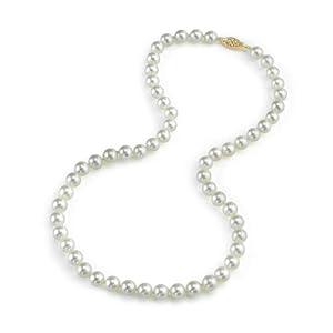 5mm hanadama akoya collier de perles blanches 18 pouces