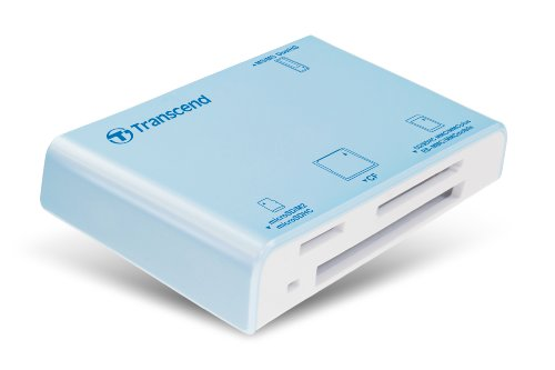 Transcend P8 15-in-1 USB 2.0 Flash Memory Card Reader TS-RDP8A (Blue)