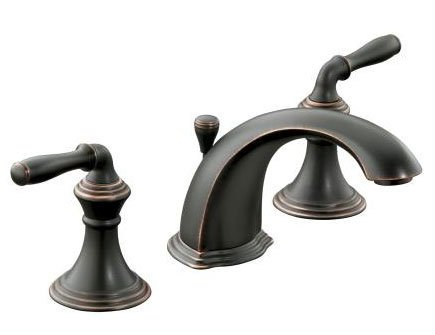 Kohler K-394-4-2BZ Devonshire Two-Handle Widespread Lavatory Faucet, Oil Rubbed Bronze