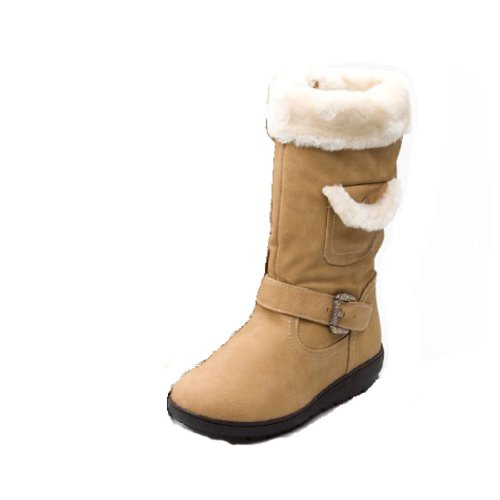 Reneeze K-COCO-3 Kids Mid-Calf Boot- Beige, Size 4
