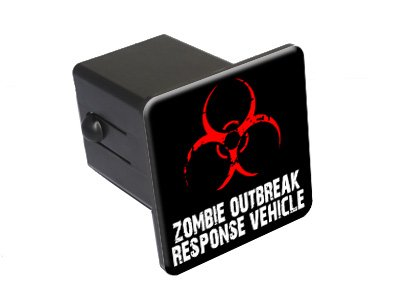 "Zombie Outbreak Response Vehicle - 2"" Tow Trailer Hitch Cover Plug Truck Pickup RV"