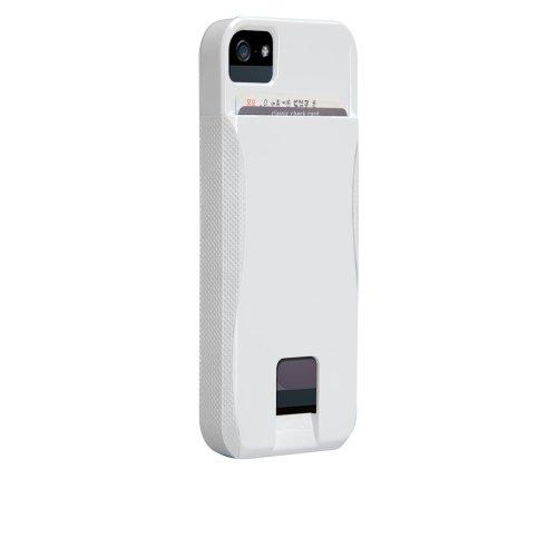 Case-Mate 日本正規品 iPhone5 POP! ID Case, ホワイト/ホワイト 【カードホルダーつき ハイブリッド・ハードケース】 CM022422