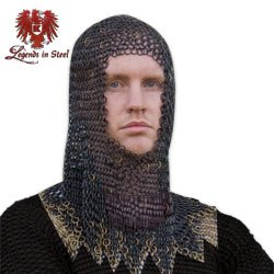 Armor Black Chainmail Head Piece