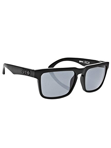 Spy Helm Sunglasses - Spy Optic Addict Series Lifestyle Eyewear - Matte Black/Grey / One Size Fits All