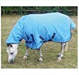 Mark Todd Mediumweight Pony Turnout Rug Combo-5'0'' Ocean Blue