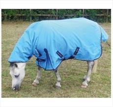 Mark Todd Mediumweight Pony Turnout Rug Combo-4'9'' Ocean Blue