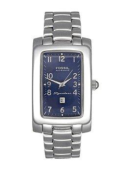 Fossil SI001 - Reloj , correa de acero inoxidable chapado color metalizado